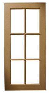 Custom Design Glass Kitchen MDF Cross Pattern Mullions Multi-Panel Door Frames BelmontDoors.com