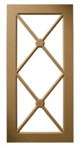 Custom Design Glass Kitchen MDF X-Cross Pattern Mullions Multi-Panel Door Frames BelmontDoors.com