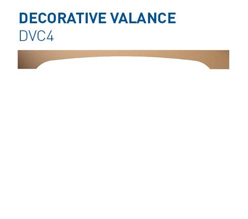 Custom mdf window valance DVC1 Specialty Components BelmontDoors.com