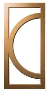 Q-Left) Contemporary-Modern-Circle-Crescent-Art Deco-Mullion-Frame