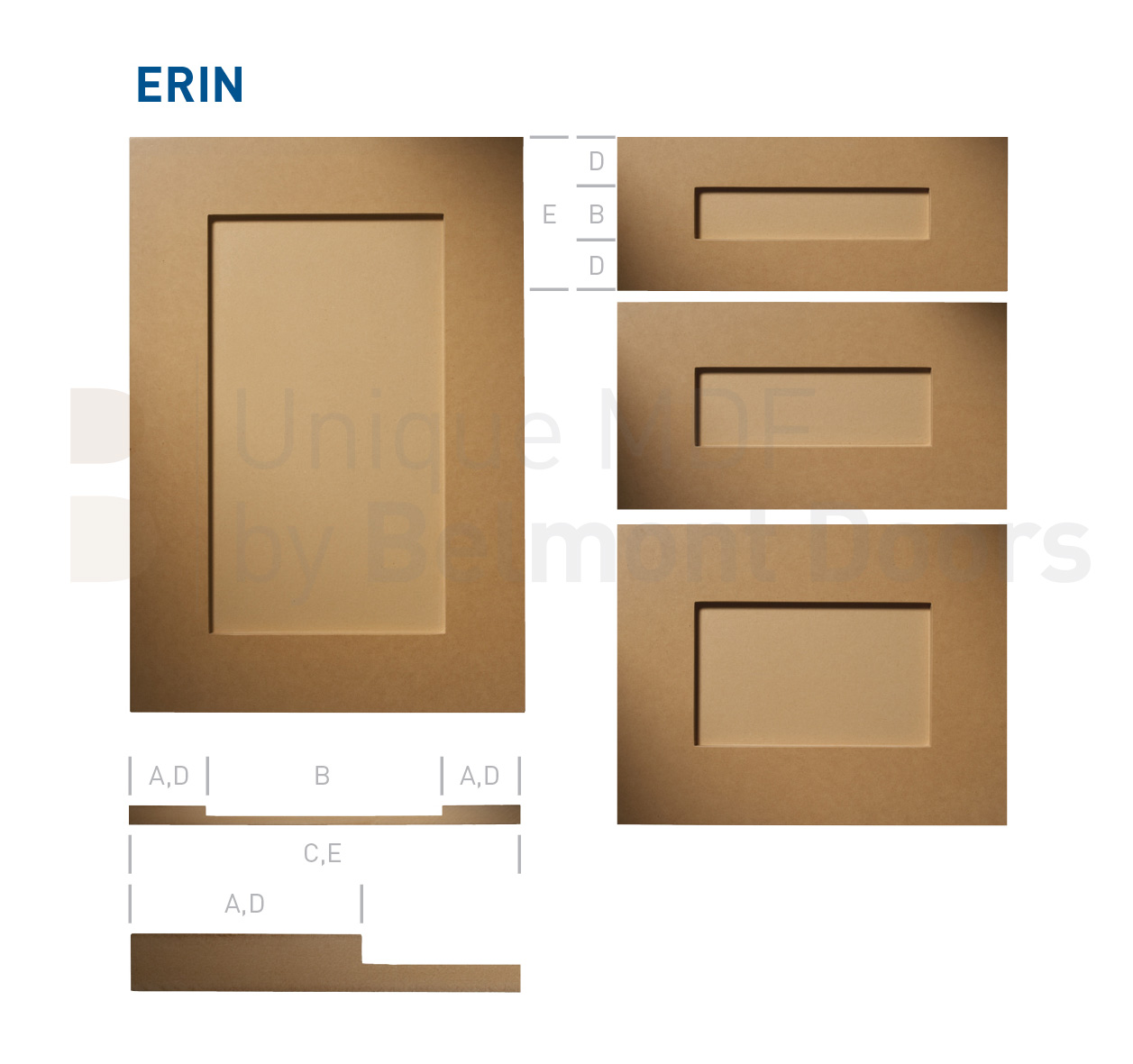 Erin Shaker Kitchen Cabinet Door Style MDF Set by BelmontDoors.com
