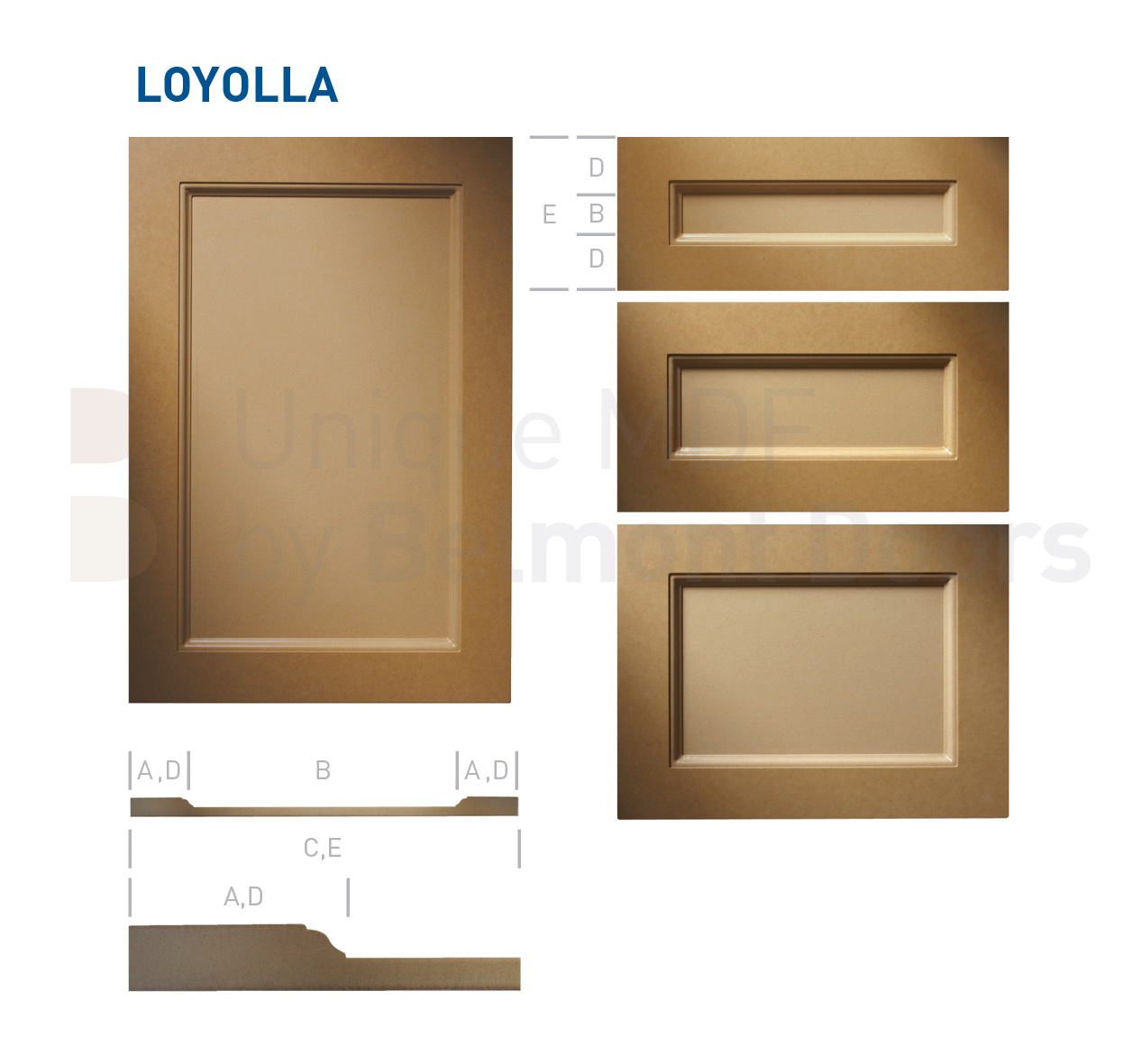 LOYOLLA Collection (Traditional Kitchen Cabinet Door Style MDF Set)