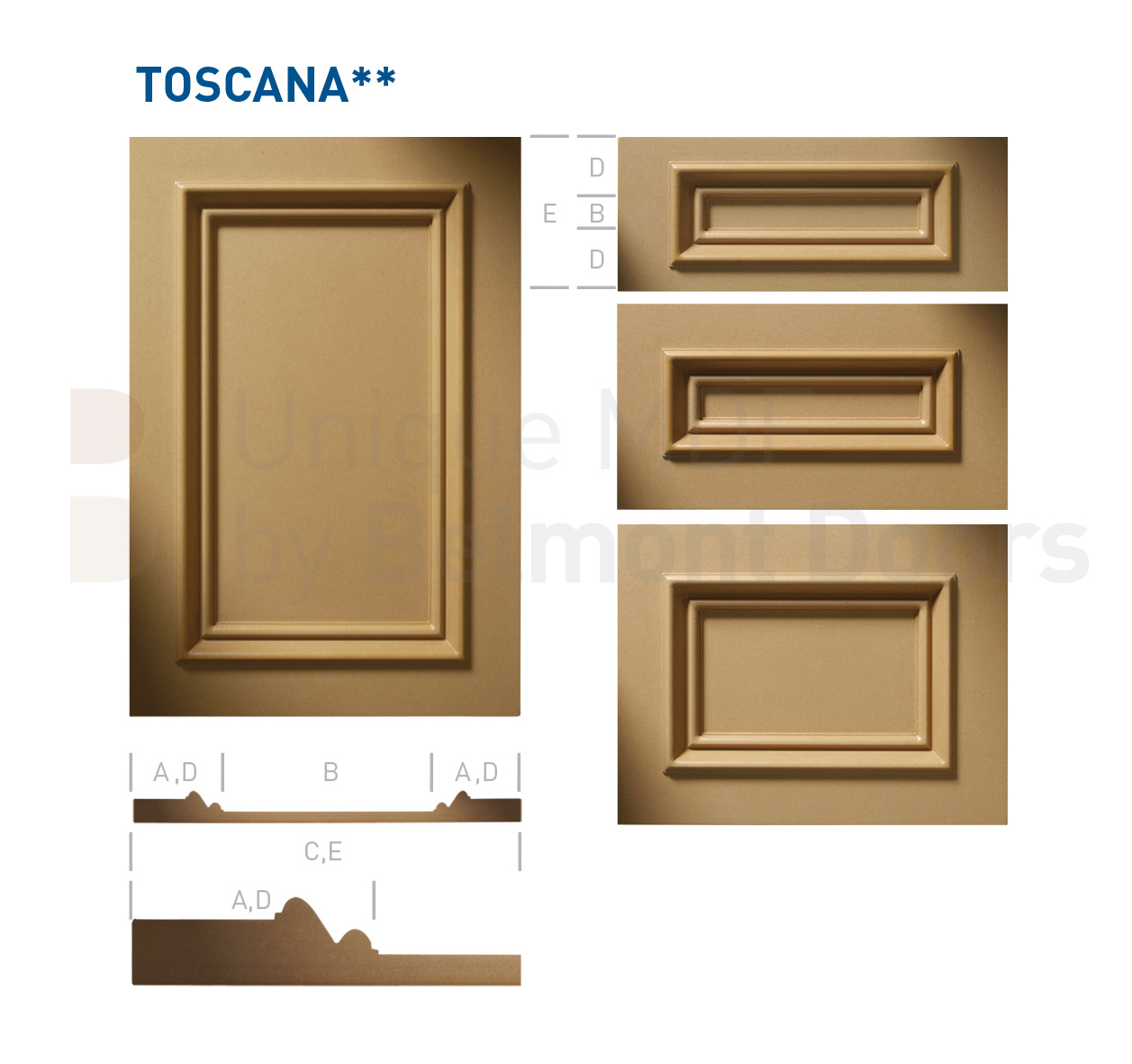 TOSCANA** Collection (Classic Kitchen Cabinet Door Style MDF Set 6)
