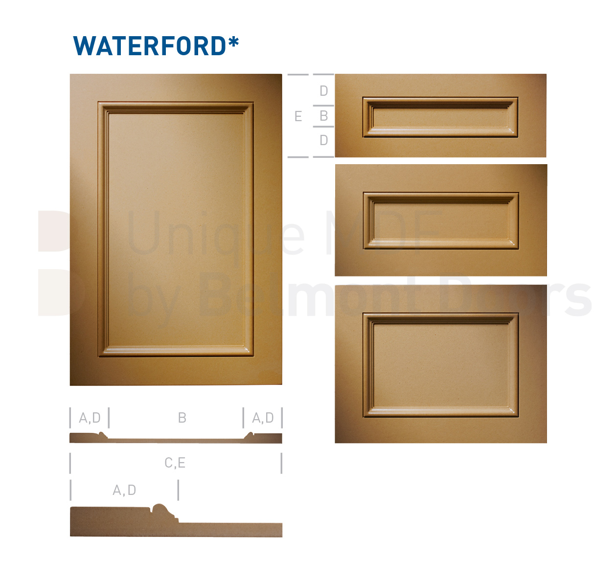 V Shaker Shaker Kitchen Cabinet Door Style MDF Set