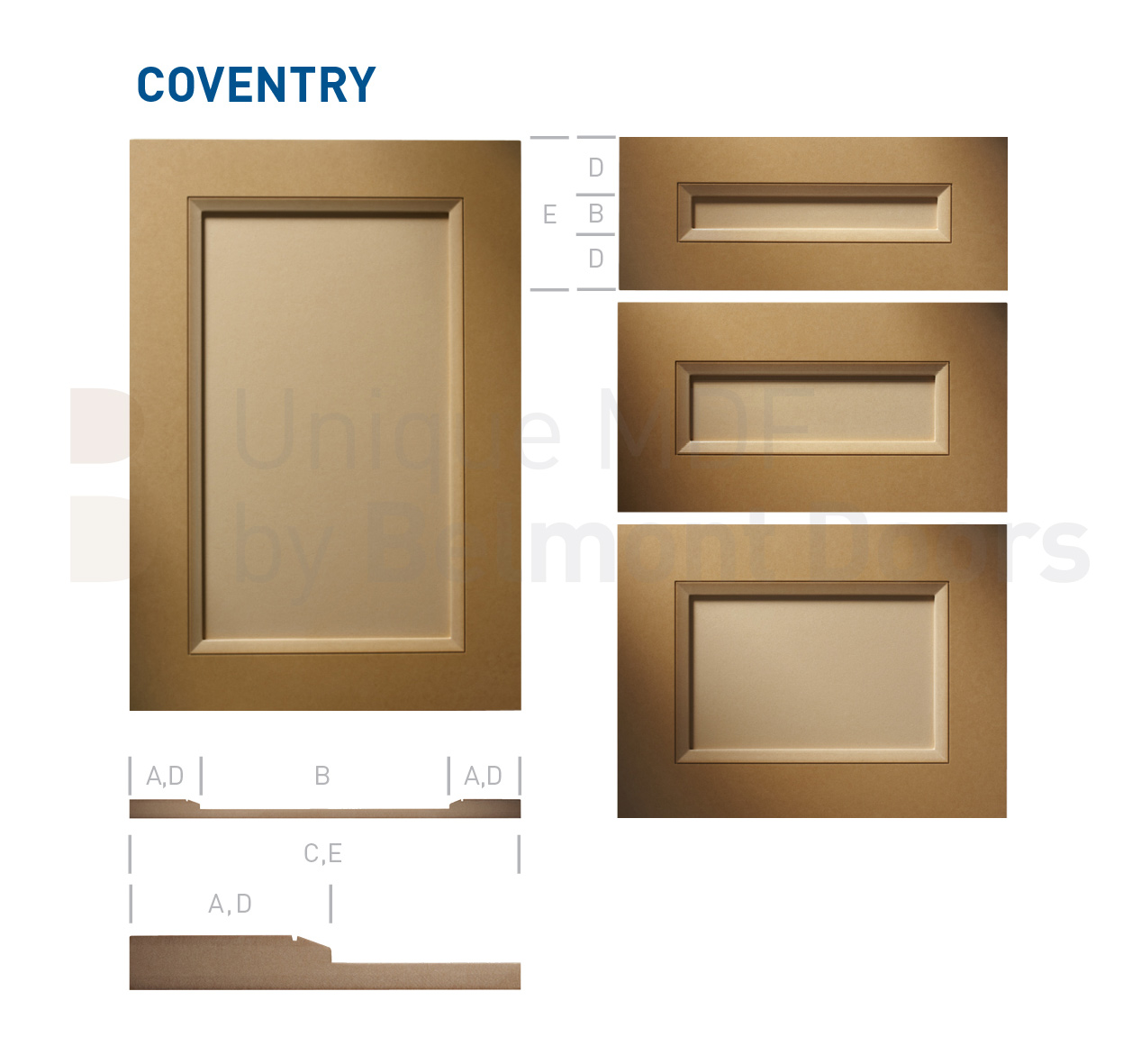 COVENTRY Collection (Transitional Kitchen Cabinet Door Style MDF Set 2)