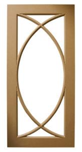 Custom Design Glass Kitchen MDF Crescent Ichthys Mullions Multi-Panel Door Frames BelmontDoors.com