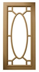 Custom Design Glass Kitchen MDF Ornamentral Oval Mullions Multi-Panel Door Frames BelmontDoors.com
