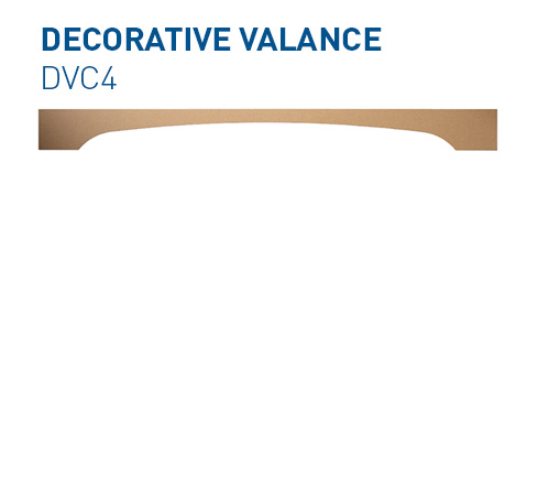 Custom mdf window valance DVC1 Specialty Components BelmontDoors.com
