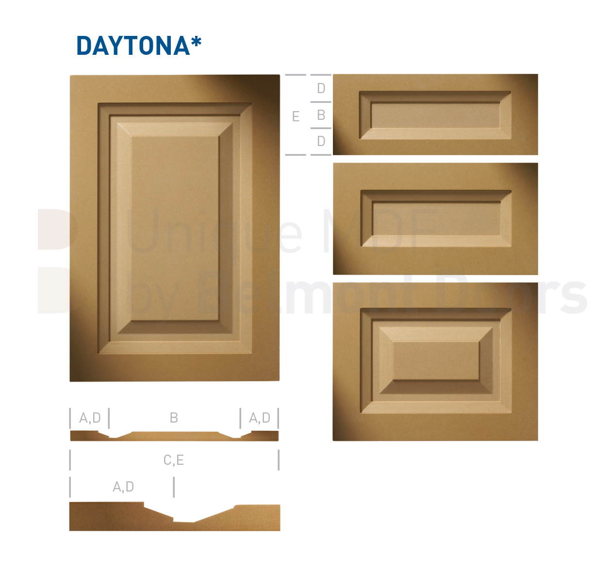 DAYTONA Collection (Transitional Kitchen Cabinet Door Style MDF Set 6)