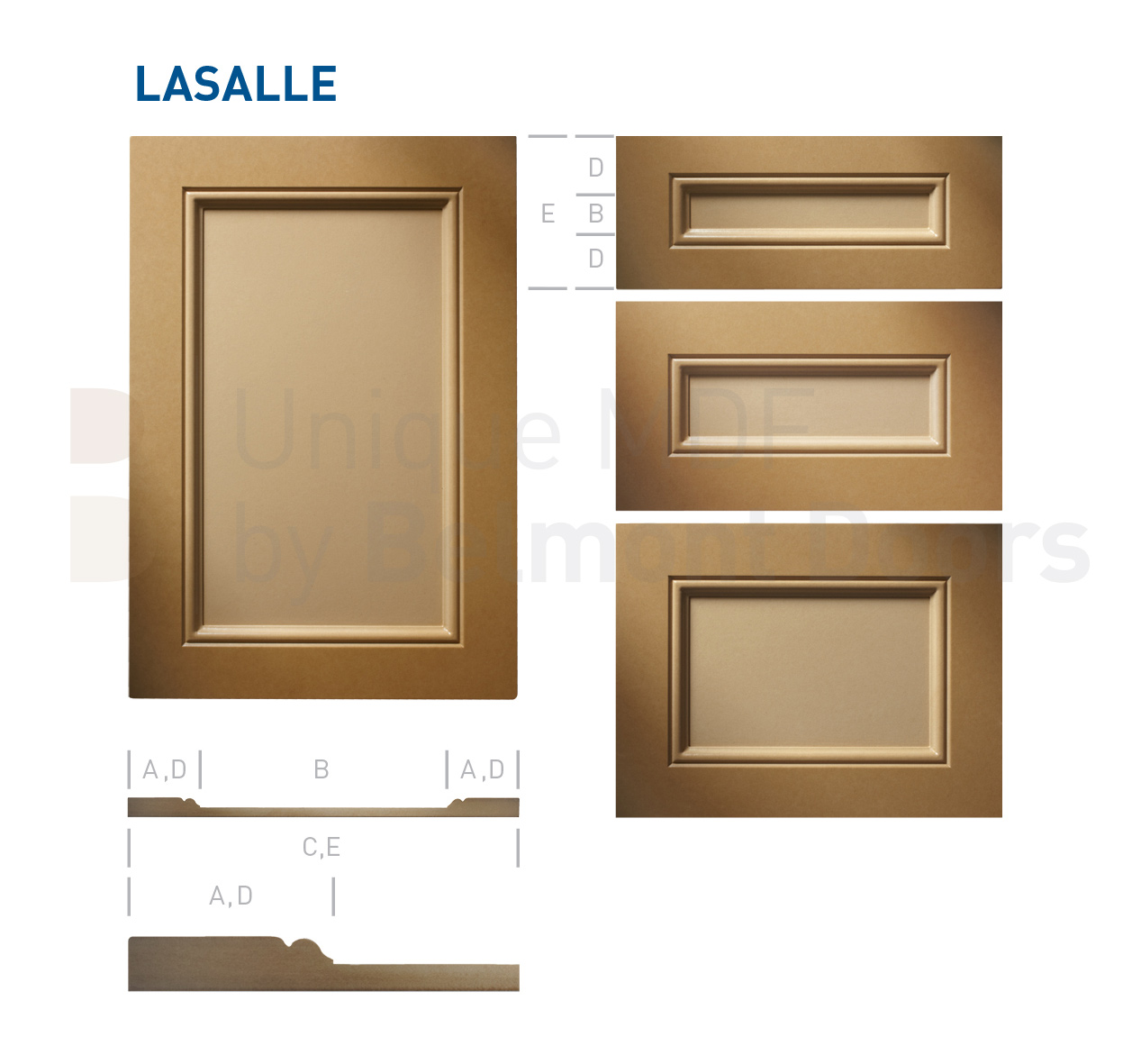 LASALLE Collection (Traditional Kitchen Cabinet Door Style MDF Set 5)