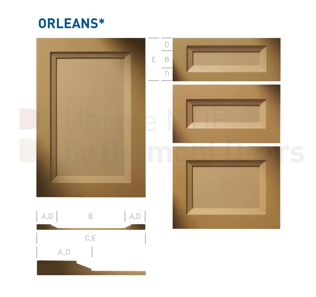 Kitchen Cabinet Door Styles Options: ORLEANS Collection (Transitional Kitchen Cabinet Door