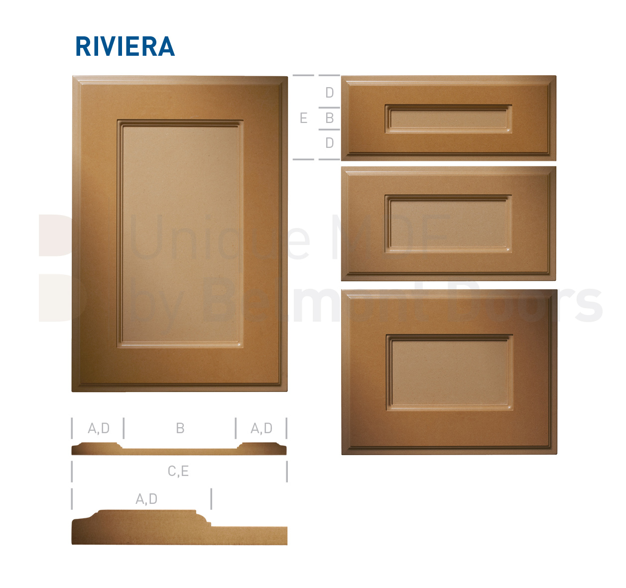 RIVIERA Collection - Traditional Kitchen Cabinet Door Style MDF Set 3