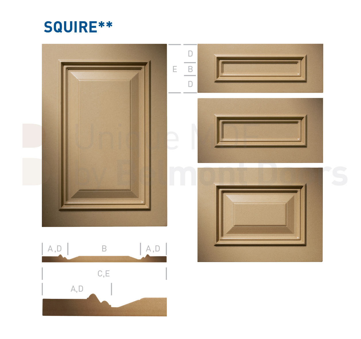 SQUIRE** Collection (Classic Kitchen Cabinet Door Style MDF Set 13)