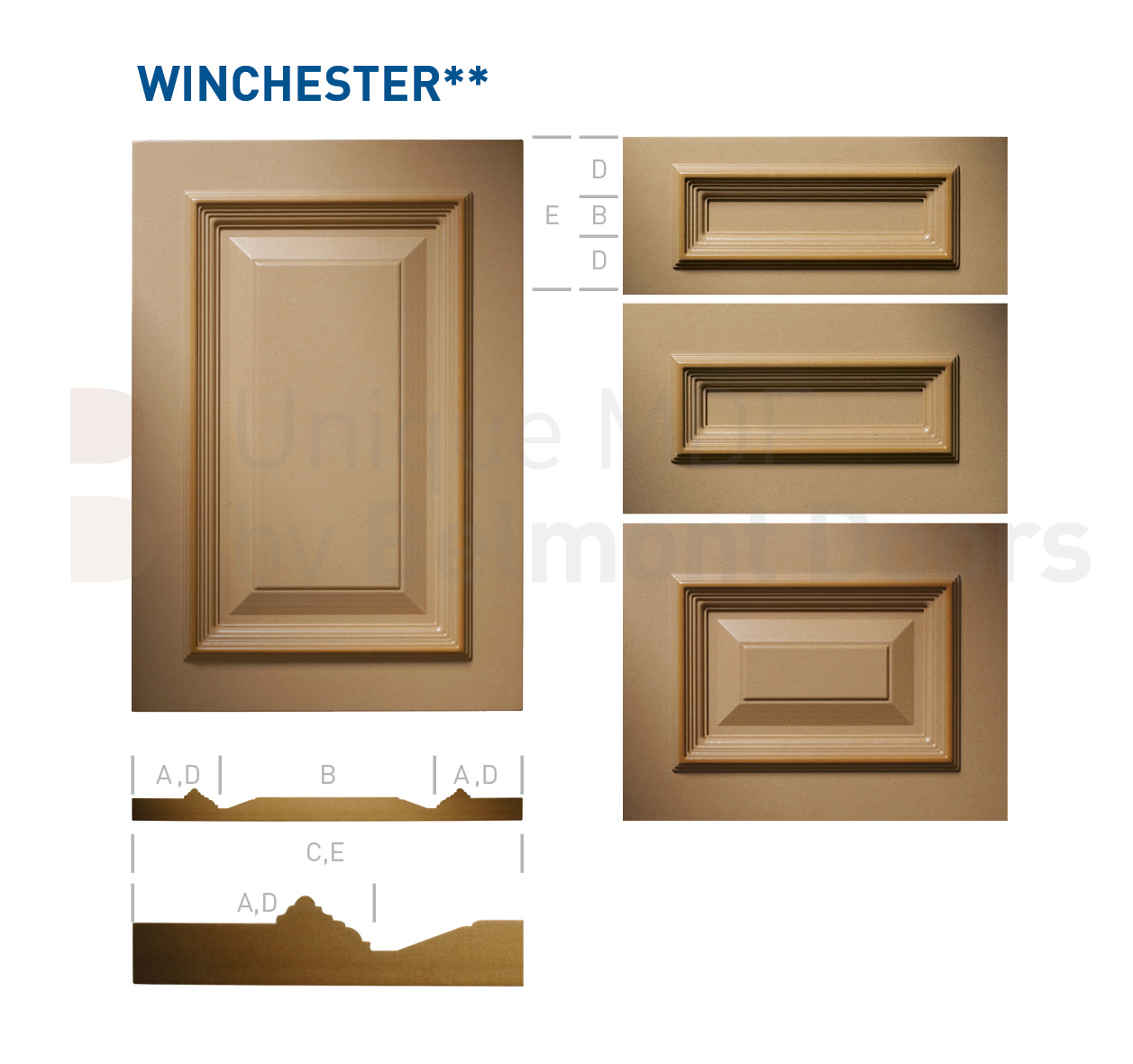 WINCHESTER** Collection (Classic Kitchen Cabinet Door Style MDF Set 18)