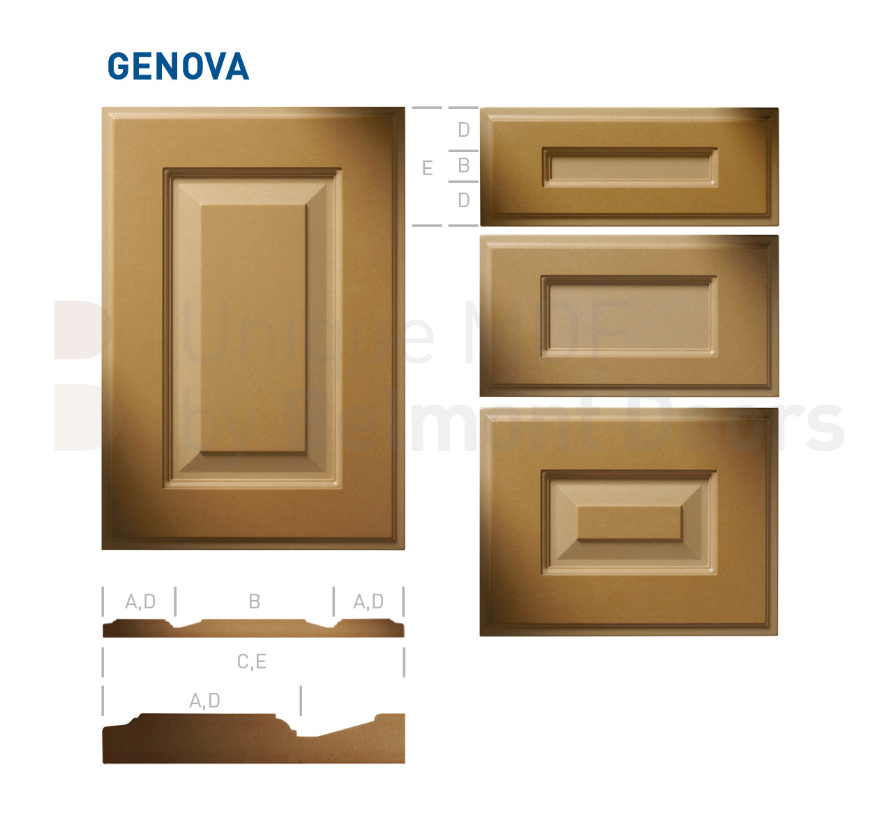 GENOVA Collection (Traditional Kitchen Cabinet Door Style MDF Set 14)